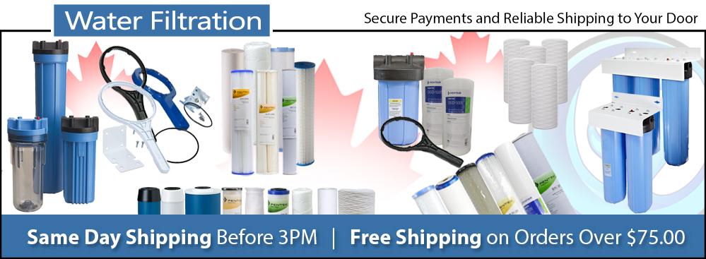 Water Filter Cartridges & Housings | Canada | Free Shipping