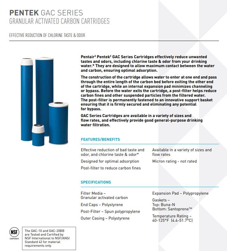 Pentek GAC Filters