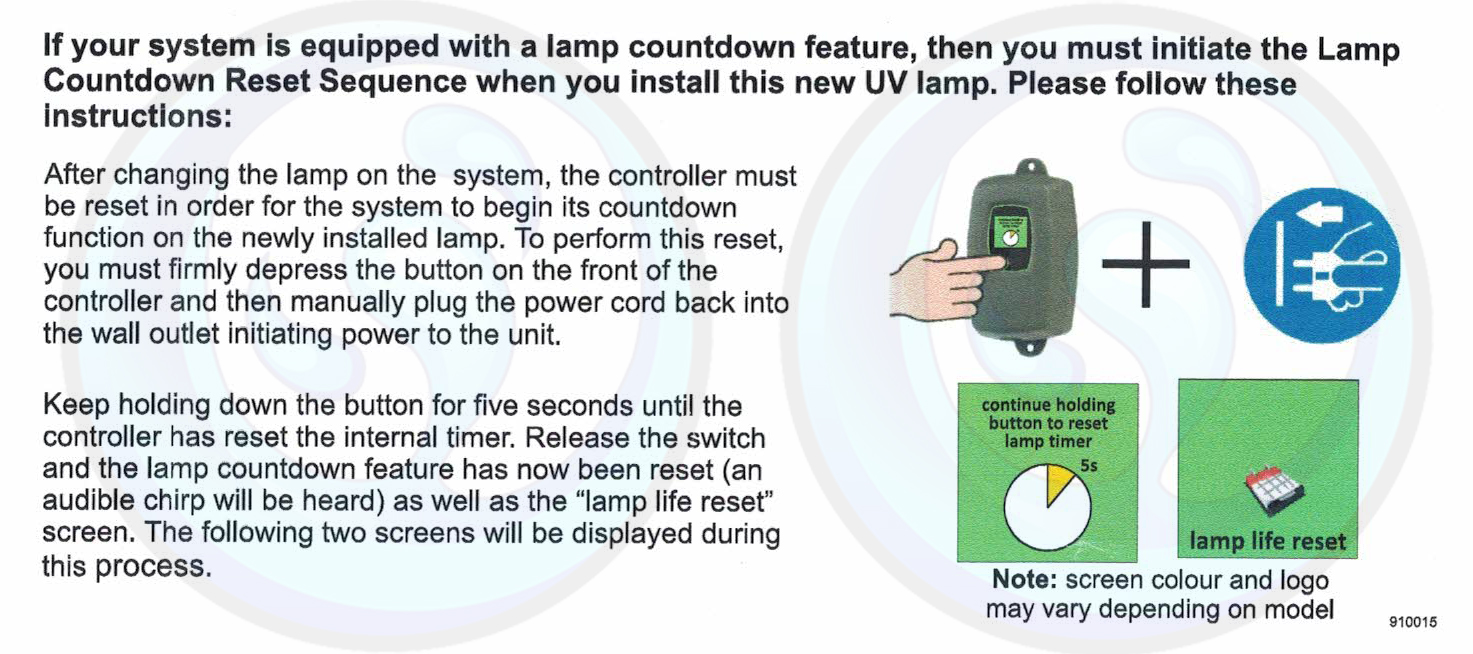 How to Reset Your Luminor UV Lamp Counter