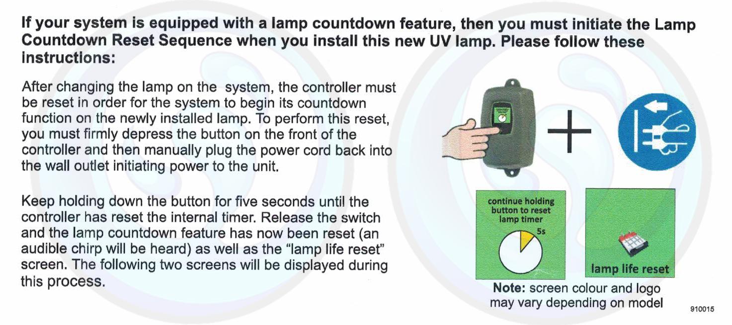 How to reset your Luminor UV Lamp