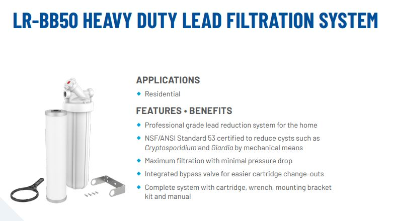 Lead Removal Filter Canada
