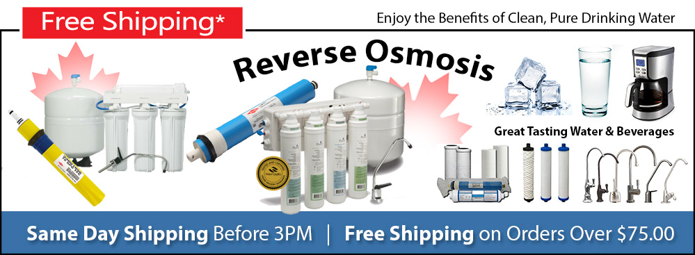 Reverse Osmosis Systems Parts in Canada Wahl Water