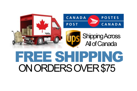 Free Shipping on Orders Over $75.00 in Canada