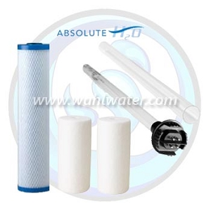 Absolute H2O IHS-10 UV Lamp Sleeve & Filters (3) | WW003