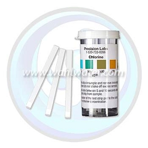Precision Laboratories | Mid Level Chlorine Test Strip | 0-200 ppm | CHL-200