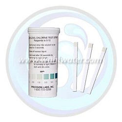 Precision Laboratories | Low Level Chlorine Test Strip | 0-10 ppm | CHL-10